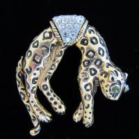 Vintage Florenza Figural Leopard Brooch