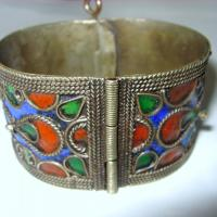 Vintage Wide Enamel Bangle