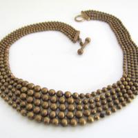 Vintage Art Deco 1930's Brass Necklace