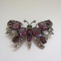Vintage Sterling 1920's Butterfly Brooch
