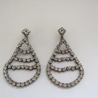 1920's Chandelier Rhinestone Earrings