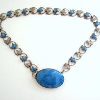 Vtg. Art Deco Fleur de Lis Necklace